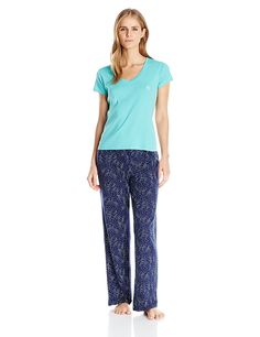 a6ad95530b Tommy Hilfiger Womens Tee and Logo Pant Set     Learn more by visiting the