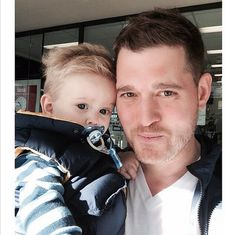 Pin for Later: Sunday Sure Was Sweet For These First-Time Fathers Michael Bublé The Canadian crooner and his wife, Luisana Lopilato, welcomed their son, Noah, in August 2013. Source: Instagram user michaelbuble