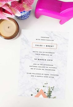 Create your dream day with these striking wedding invitations from Sail and Swan studio. Artist made and designed with love.