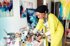 Amira Rahim's Colorful Abstract Paintings - AphroChic | Modern Global Interior Decorating