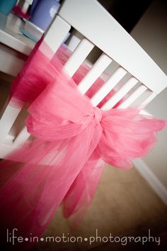 chair bows: Teal, Pink and Gold