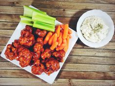 Spicy BBQ Cauliflower Wings With A Cashew Dipping Sauce   Plant Over Processed