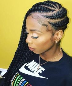 Natural Hair Braids, Natural Afro Hairstyles, Natural Hair Growth, Flat Twist Hairstyles, Braided Hairstyles Updo, Scarf Hairstyles, Loose Side Braids, Braids With Weave, Hair Puff