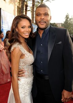 Tyler Perry And Wife Black Celebrity Couples, Black Couples, Couples In Love, Celebrity Pictures, Tyler Perry, Black Actors, Black Celebrities, Black Love, Black Is Beautiful