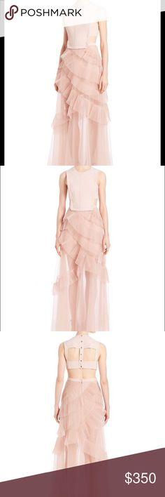 Selling this BCBG MaxAzria  PINK SHEER AVALON Dress SIZE 4 on Poshmark! My username is: kate15627. #shopmycloset #poshmark #fashion #shopping #style #forsale #BCBGMaxAzria #Dresses & Skirts