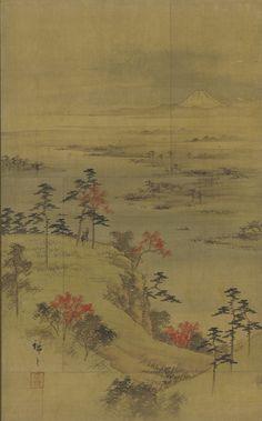 Landscape of the season: autumn - mid 19th century. Utagawa Hiroshige II , (Japanese, 1826 - 1869) - Edo period