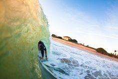 Chauncey Robinson tucked into a shorebreak barrel. Somewhere in Central Florida.