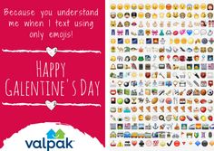 Because you understand me when I text using only emojis! Happy #GalentinesDay