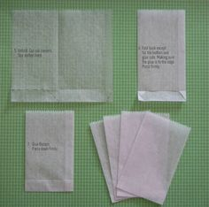 creating in glass slippers: Tutorial: Make your own Dry Waxed Paper Bags