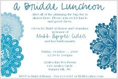 bridal+brunch+shower+invitations+wording | Bridal Luncheon Invitation : wedding bridal shower diy invitations ...