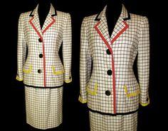 Bill Blass 1980s Suit Designer Hourglass Couture by vintagediva60, $325.00