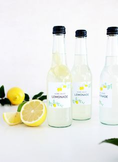 Download these FREE Lemonade Bottle Labels PLUS a recipe for the best home made lemonade!