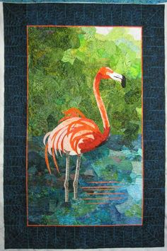 Trudy's Flamingo quilt, photo by The Secret Life of Mrs. Meatloaf