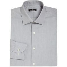 611 Saks Fifth Avenue New York Micro Check Dress Shirt (6.475 RUB) ❤ liked on Polyvore featuring men's fashion, men's clothing, men's shirts, men's dress shirts, apparel & accessories, grey, mens cotton shirts, mens checked shirts, mens gray dress shirt and mens checkered dress shirts