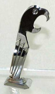 Hegbaur Chrome Art Deco Parrot Corkscrew Bottle Opener