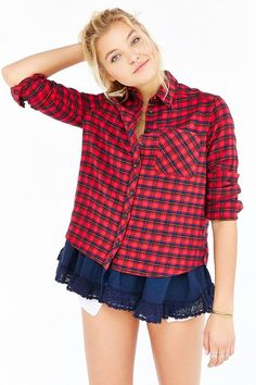 We love the layers of this BDG Louie flannel shirt on ShopStyle