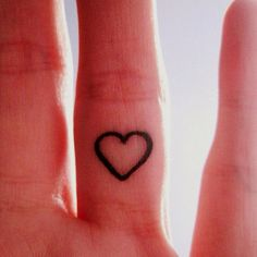 Pinner wrote: My mom and I are both getting this heart tattoo on our right ring fingers!   So cute!