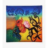 wall-clock-square-multi-color-floral-fervour-wooden-clock-rangrage