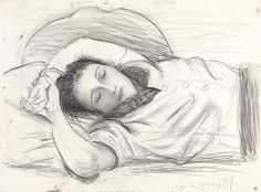 Pablo Picasso (Spanish, 1881-1973), Portrait of Dora Maar Sleeping, 1937. Pencil on paper, 37.7 x 51 cm.