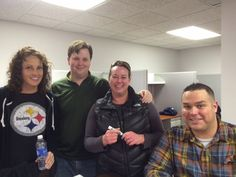 Having a little Super Bowl fun at the New RE/MAX Rising Office!