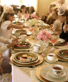 Girls Vintage inspired Tea Party