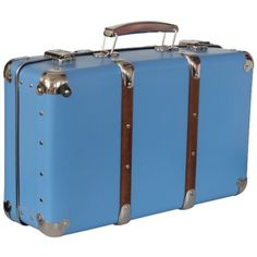 Maleta Vintage en color azul / Decoración / Homdecor