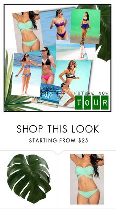 """bikini"" by neri-6448 ❤ liked on Polyvore featuring Monday, Seafolly, H&M, Nicki Minaj and Pottery Barn"