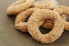 Lebanese Recipes, Italian Recipes, Sesame Recipes, Healthy Biscuits, Sesame Cookies, Greek Turkey, Bakery Recipes, Middle Eastern Recipes, Arabic Food