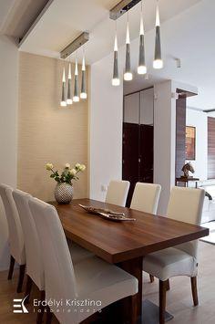 Hálószoba ötletek - Modern - dió, fehér, bézs - Erdélyi Krisztina belsőépítész, lakberendező -  belsőépítészeti és lakberendezői munkák