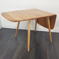 For sale: Mid Century Drop Leaf Dining Table by Lucian Ercolani for Ercol, Ercol Dining Table, Dining Table In Kitchen, Dining Room, Small Apartment Layout, Ercol Furniture, Storage Mirror, Drop Leaf Table, Desks, 1960s