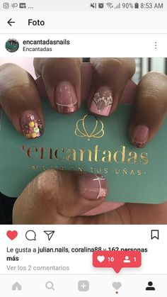 Ideas For Nails Sencillas Puntos Pastel Nails, Acrylic Nails, Coffin Nails, Clear Acrylic, Orange Nails, Purple Nails, Cow Nails, Ballerina Nails, Winter Nails