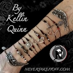 More information on each bracelet available on individual product listings.  Bundle Package available during launch week only.<b>The Kellin Quinn</b>Songwriter and lead vocalist <b>Kellin Quinn</b> has created an exclusive line for Never Take It Off that is inspired by World War II era tattoo art as well as his own tattoos, lyrics, and his clothing line <b>Anthem (www.anthemmade.com).</b>Originally from Orlando, Florida, Kellin rose to fame in 2010 with the release of <b>Sleeping With ...