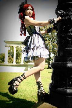 Gothic / punk lolita.