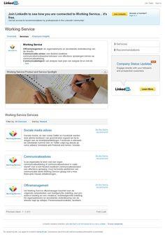 Bedrijfswebsite van Working Service op LinkedIn