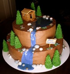 cabin cake ideas