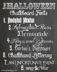 free halloween chalkboard fonts wwwamusingmjcom - Good Halloween Font