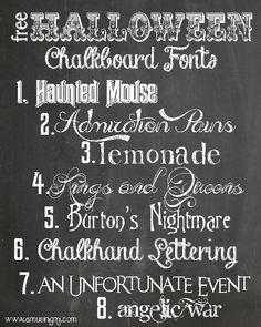 Fabulous & Free Chalkboard Fonts | Chalkboard fonts, Chalkboards ...