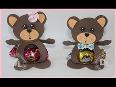 como fazer porta bombom da ursinha e ursinho marrom - YouTube