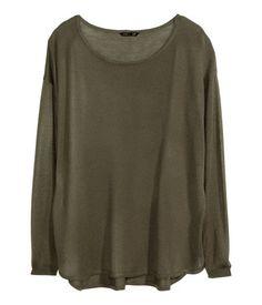 Oversized sweater, khaki green   H&M   $19.95  