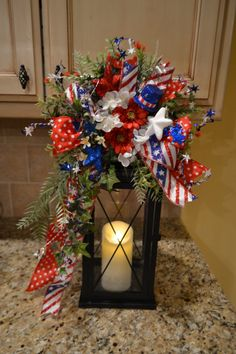 Patriotic Lantern Swag by kristenscreations on Etsy