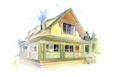 Houseplans.com Plan #479-8 Front Elevation I think this is the one