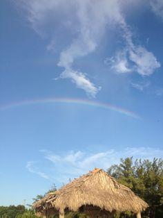 Rainbow over Fort Zachary Taylor, Key West, Florida