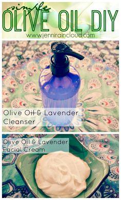 DIY Olive Oil Cleanser & Lotion