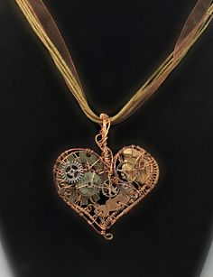 Mechanical Heart Steampunk Pendant by MelsMakeBelieve on Etsy