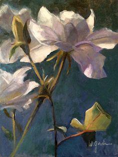 """""""White Roses""""  12x9"""