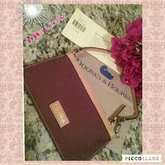 ✨Dooney  & Bourke leather Wristlet✨ Authentic D&B Wristlet. NWT. Super cute, and great for on the go and light.  ❗️Bundle and Save  ❗️Take Reasonable Offers ❗️Please let me know if you have any questions or measurements, that way we can have a pleasant transaction. Dooney & Bourke Bags Clutches & Wristlets