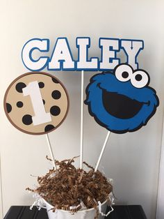 Cookie+Monster+Centerpiece+by+PinkPaperCottage+on+Etsy