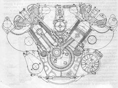 Tatra engine scetch