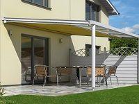 Innenbeschattung T50: Bei der Konstruktion dieser Markise wurde besonders Augenmerk darauf gelegt, eine qualitativ hochwertige und dennoch preiswerte Beschattungslösung für kleine Terrassenüberdachungen zu schaffen.