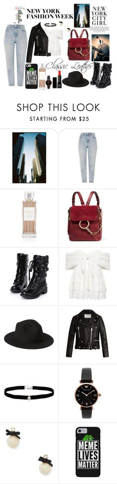"""""""New York Fashion"""" by rainfail ❤ liked on Polyvore featuring Topshop, Henri Bendel, Chloé, Sea, New York, Acne Studios, Amanda Rose Collection, Emporio Armani, Kate Spade and Make"""